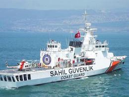 Izmir barco guardacostas turcos