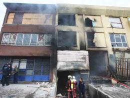 Ankara incendio edificio abandonado