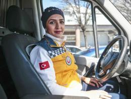 Ankara mujer conductora ambulancia
