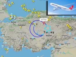 Avion turkish airlines bandera anatolia