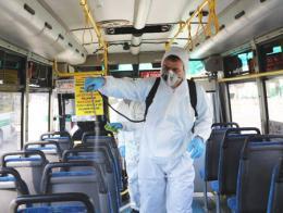 Estambul desinfeccion autobuses coronavirus