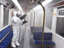 Izmir desinfeccion metro coronavirus