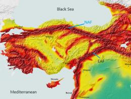 Turquia fallas tectonicas