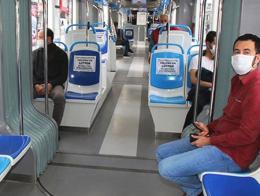 Turquia viajeros metro coronavirus