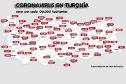 Turquia casos coronavirus provincias