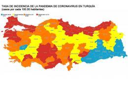 Turquia mapa contagios coronavirus