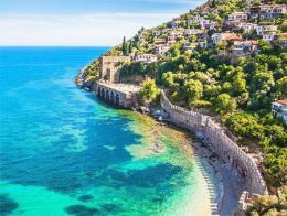 Antalya alanya costa playa