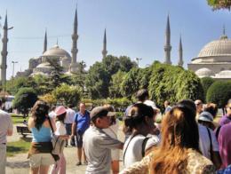 Estambul turistas sultanahmet mezquita azul