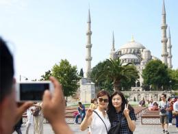 Turistas chinos estambul