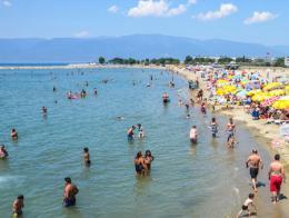 Van lago turistas playas