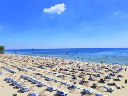 Playa pública de Güneş, en el distrito europeo de Bakırköy, Estambul