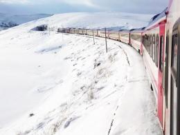 Kars tren expreso oriente nieve