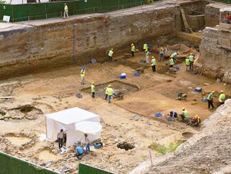 Descubren durante las obras del metro ruinas del Neolítico que se remontan a hace 6.000 años
