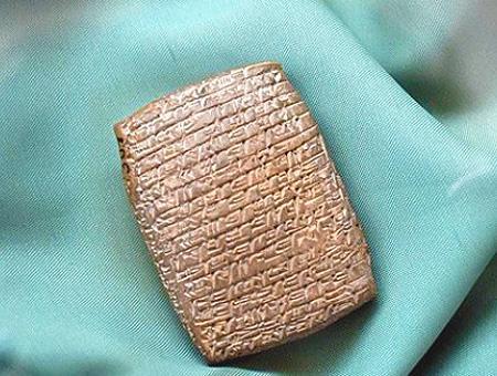 Tablas arcilla escritura cuneiforme