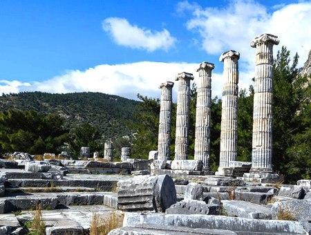 Ruinas de la antigua ciudad de Priene, en Aydın