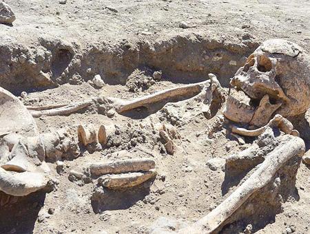 Canakkale troya esqueleto arqueologia