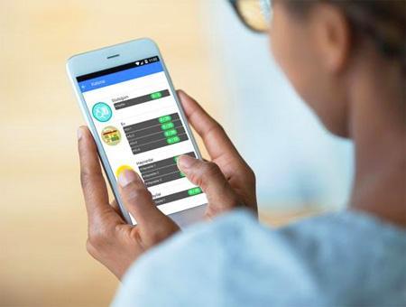La aplicación móvil usada para el curso online