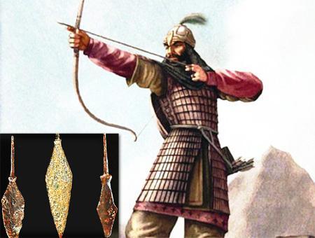 Otomanos arqueros flechas