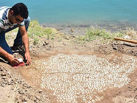 Adiyaman mosaico romano lago presa