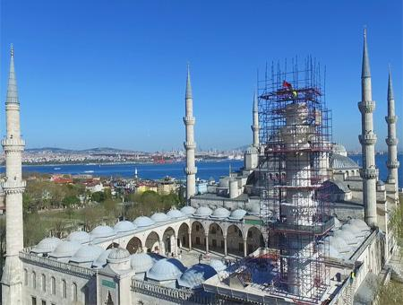 Estambul mezquita azul restauracion
