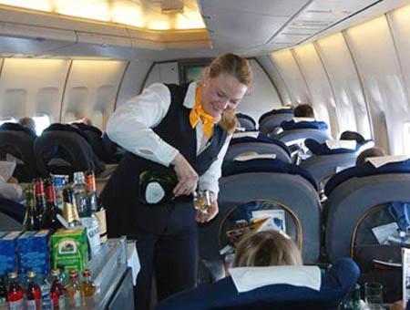 Servicio bebidas avion