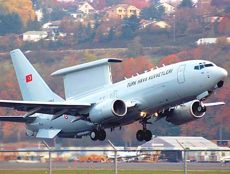 Un Boeing 737 AEW&C de las Fuerzas Aéreas Turcas