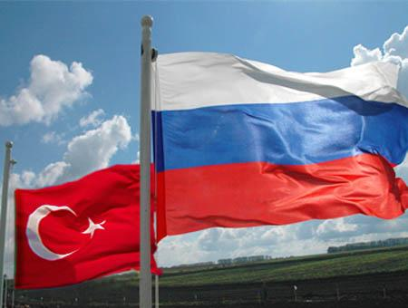 Turquia rusia banderas