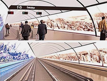 Estambul tunel peatonal bosforo