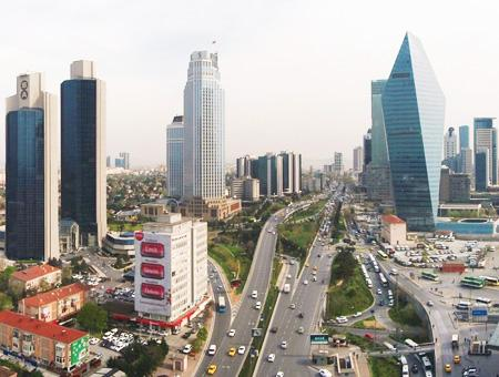 Rascacielos en Levent, Estambul