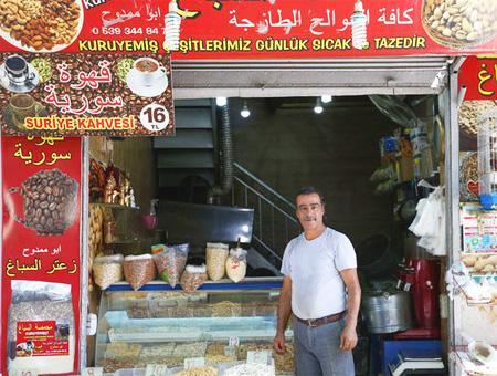Refugiado sirio negocio trabajo