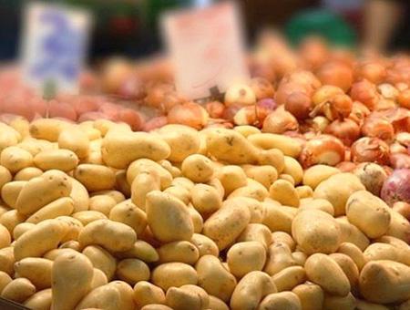 Alimentos patatas cebollas