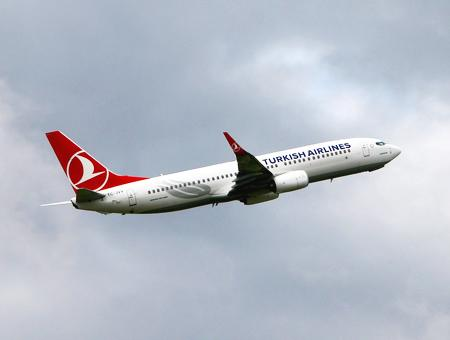 Avion turkish airlines despegue