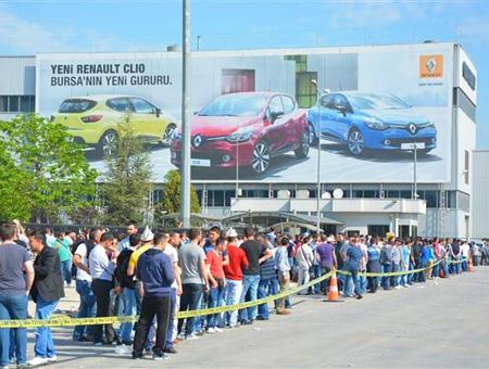 Bursa huelga fabrica renault
