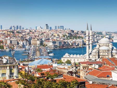 Estambul ciudad edificios cuerno oro