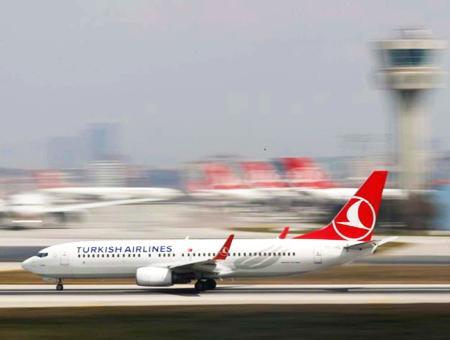 Avion aeropuerto turkish airlines