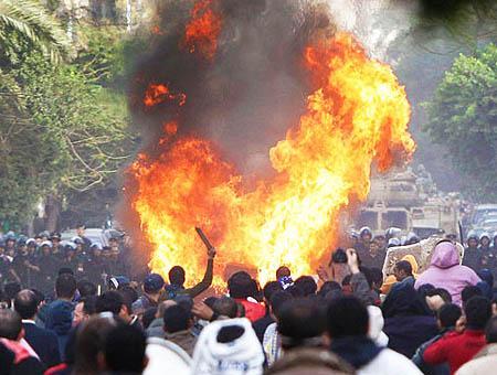 Choques policia egipto