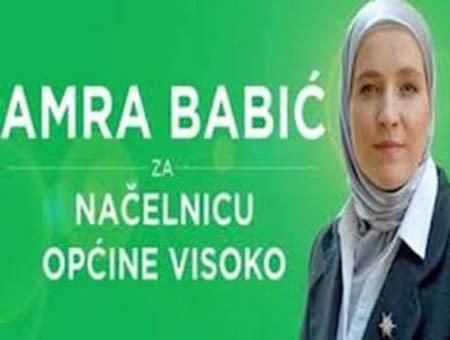 Amra babic alcaldesa bosnia