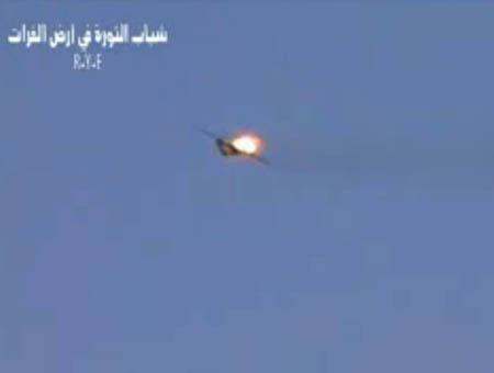 Avion derribado siria