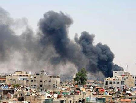 Damasco explosion combates