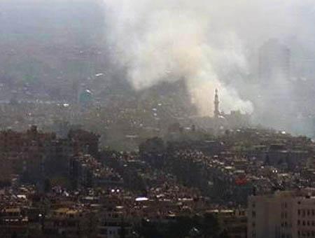 Explosion combates damasco