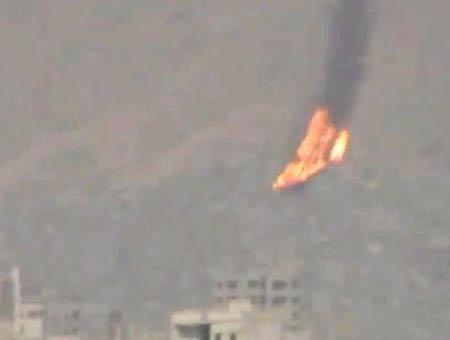 Helicoptero sirio derribado