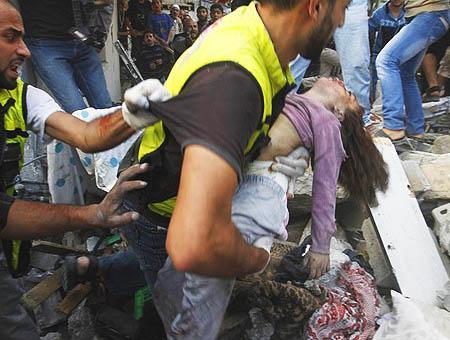 Victimas gaza bombardeos