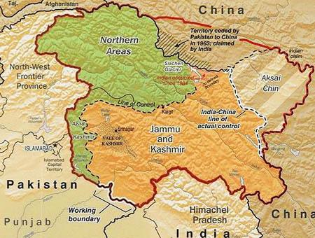Cachemira mapa