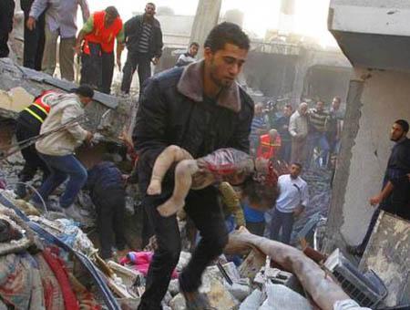 Gaza victimas bombardeo