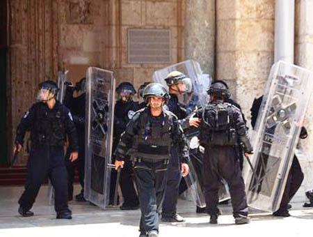 Israel policia disturbios