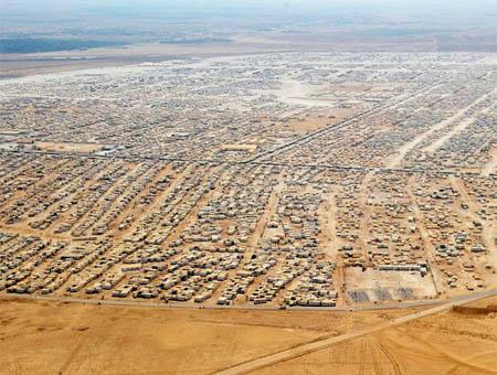 Jordania campo refugiados sirios