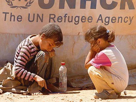 Siria ninos refugiados