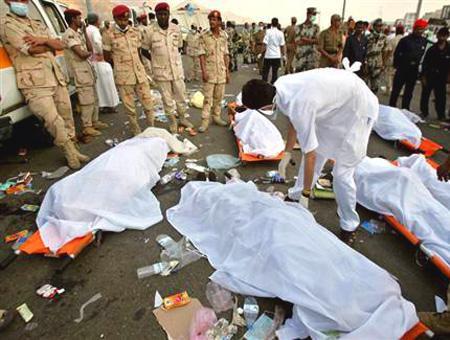 Arabia saudi meca estampida