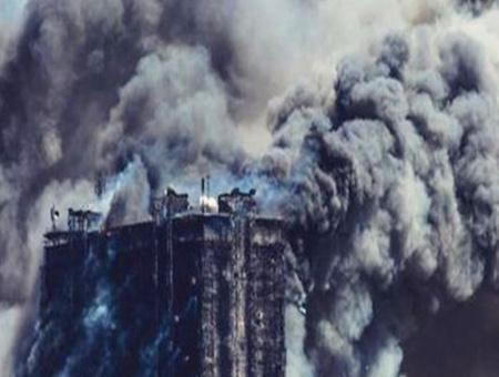 Azerbaiyan baku incendio