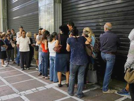 Grecia colas banco